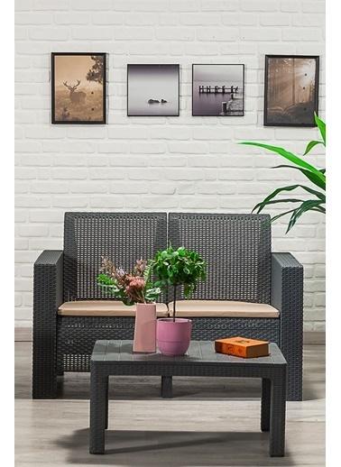 Sandalie Aksu 2+1+1+s Balkon&teras Bahçe Mobilyası / Antrasit  Antrasit